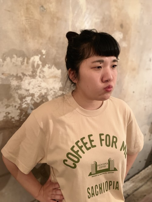 Tシャツ girl's ベージュ SACHIOPIA COFFEE ORIGINAL