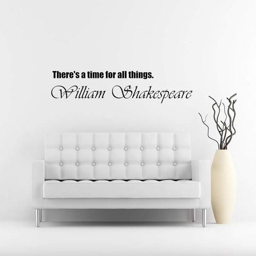 シェイクスピア 細長タイプの英語文字 ウォールステッカー モノトーン