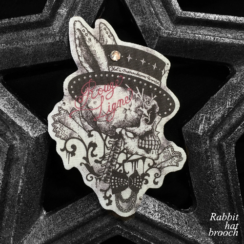 Rabbit hat brooch