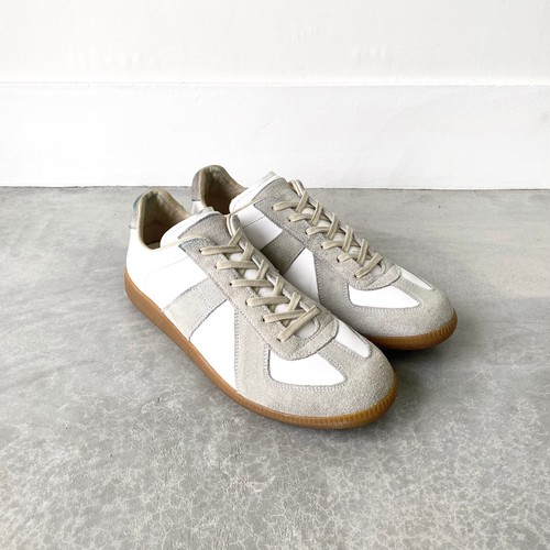 MAISON MARTIN MARGIELA 22-REPLICA- sneakers GERMAN TRAINER white×gray