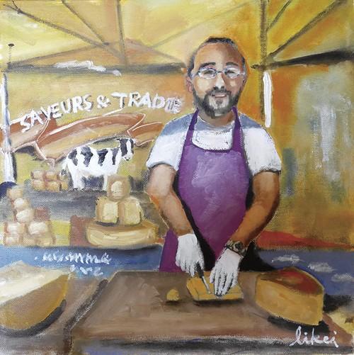 チーズ売りのおじさん