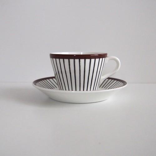 Gustavsberg SPISA RIBB スピサリブ コーヒーカップ&ソーサー