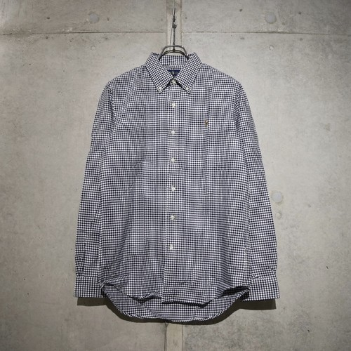 POLO RALPH LAUREN CLASSIC FIT CHECK SHIRT / BLUE x WHITE
