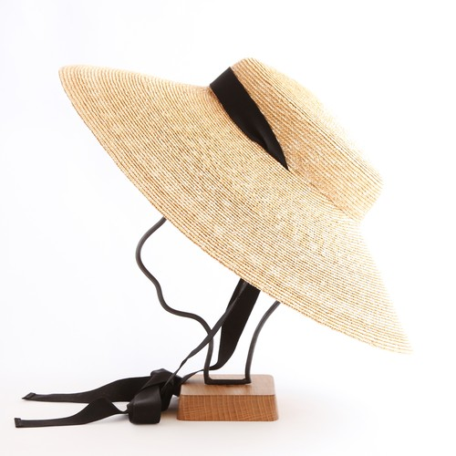 mature ha./6mm braid straw hat wide