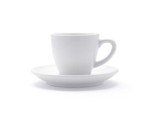 リニューアルされたイタリアミラノのACFカップ&ソーサー。きれいな曲線とカラーリング。3ozエスプレッソ用。コーヒーのデミタスカップとしても。