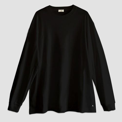 """FANTASISTA"" ロングスリーブTシャツ(ブラック)"