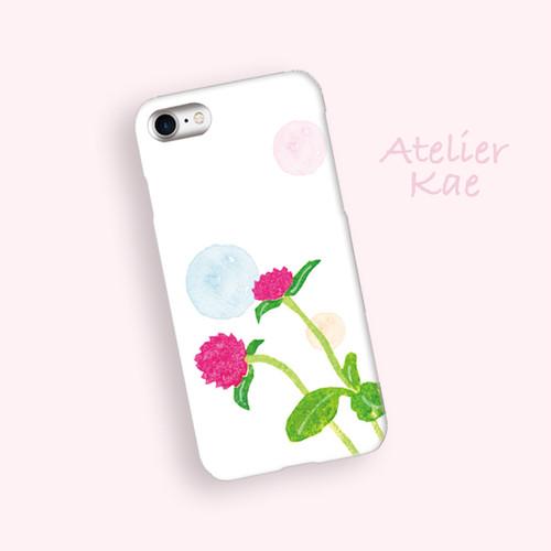 スマホケース「紅い花のメロディー」iPhone/Android対応 【受注生産】