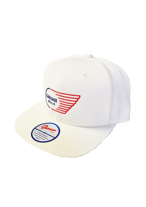 Wing logo cap White