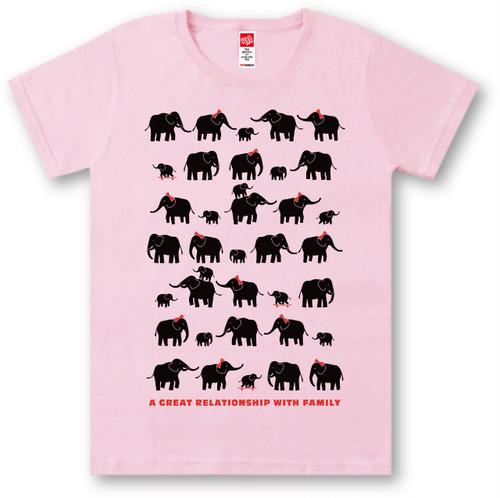 #423 Tシャツ ELEPHANT/PNK