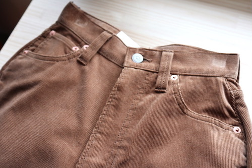 "『LENO』""KAY"" High Waist Corduroy Pants"