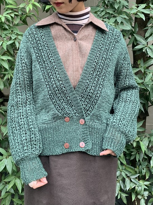 (TOYO) double button knit cardigan