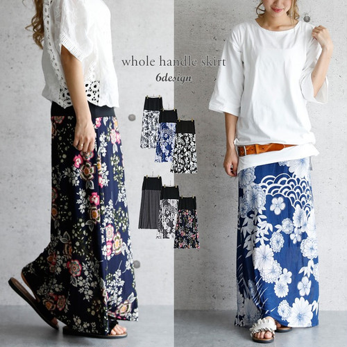 マキシ丈 ワンピース 花柄 スカート
