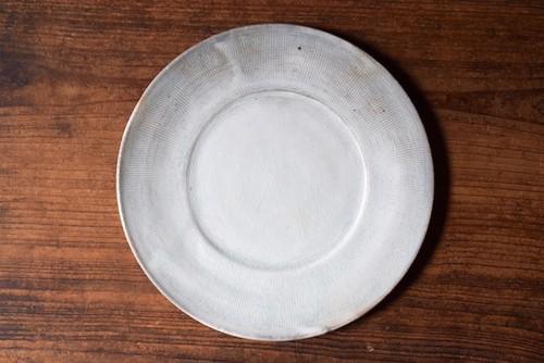八木橋昇 古粉引三島リム皿8寸