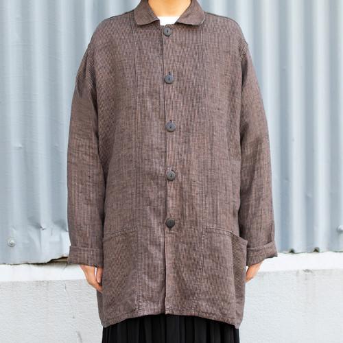 """Flax"" Stripe Linen Jacket"