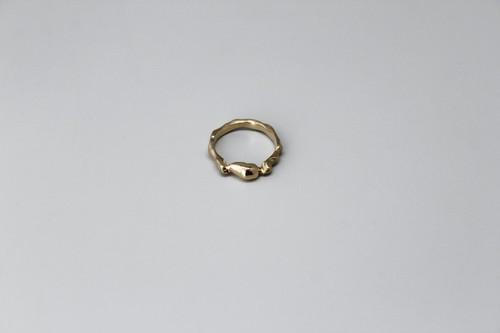 """泡沫のリング(silver925/K18pt)【2020""""SKIN FORM""""】"""