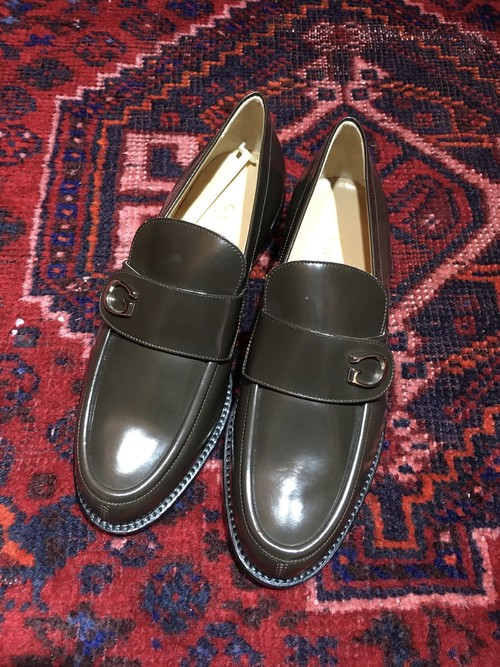 .GUCCI LEATHER LOGO LOAFER MADE IN ITALY/グッチレザーロゴローファー 2000000036779