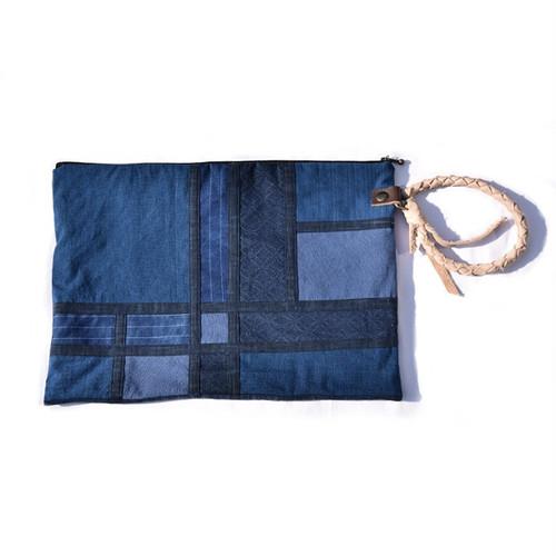 藍染 モンドリアン クラッチバッグ Mondrian Clutch Bag 004