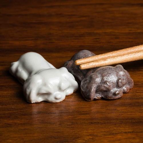 シーズー 陶器の箸置き(ペア)