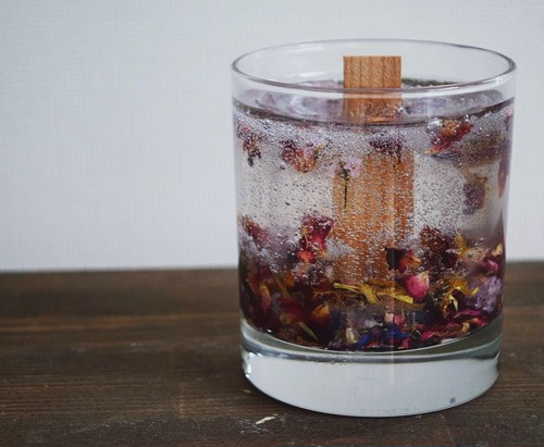 flower clear candle