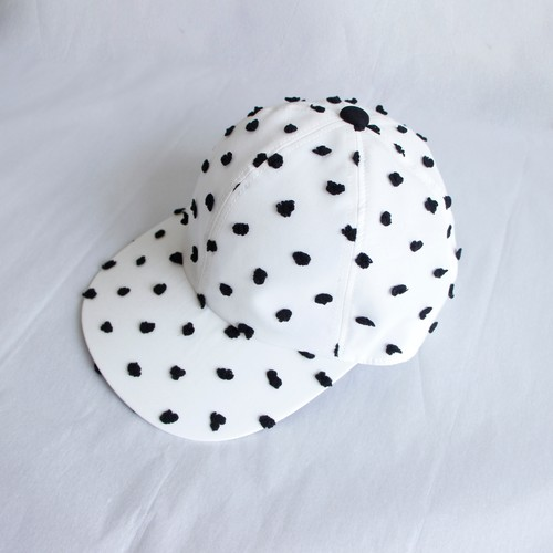 《frankygrow 2020SS》BONBON CUT JQ CAP / white × black × bonbon