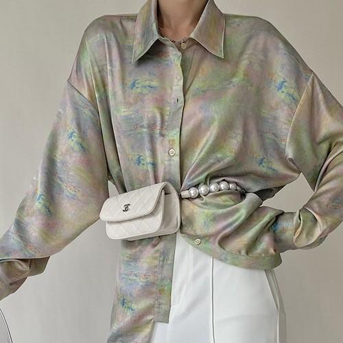 オイルアートデザインシャツ ・2716