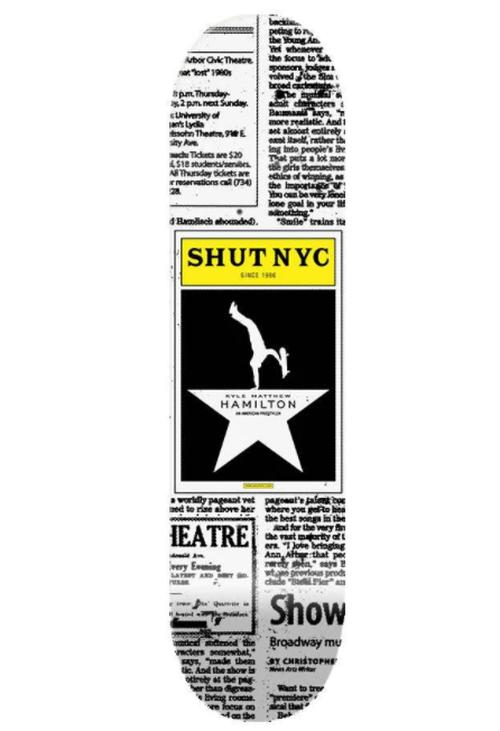 SHUT SKATEBOARDS / Pro Kyle Hamilton Deck