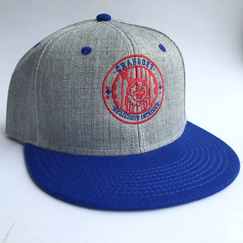 """CLOWN"" CAP (Heather Gray x Blue)"