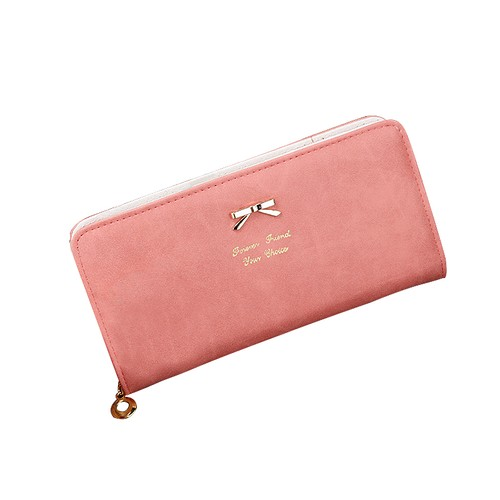 Hot Sale Women Wallets Fashion Leather Women Purse Wallet  Clutches Bowknot Long Purse Ladies Women Clutches Zipper  Famale Purse