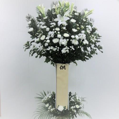 供花スタンド(W-18/白上がり/2段)