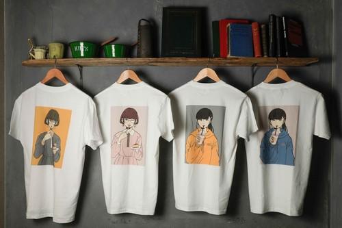 【NEW⭐︎】デジタルイラスト風 Tシャツ(M)
