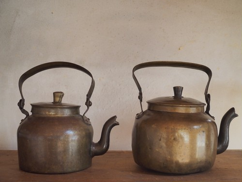 antique kettle from India