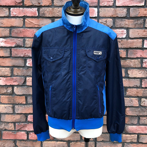 1970s Puma Winter Sports Track Top Navy×Sax EU50