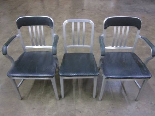 60's US Navy Aluminium 3 Chairs