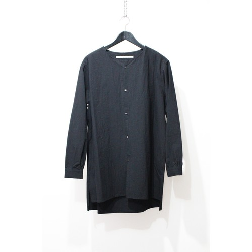 【VITAL】Over Size No Collar Shirt (BLK)