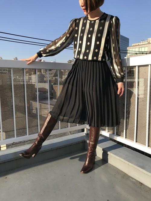 Vintage black × silver dress ( ヴィンテージ  ブラック × シルバー ワンピース )