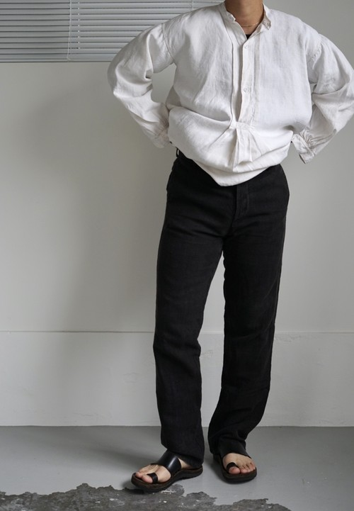 <STYLING> ⇨ Casey Vidalenc - Garment Dyed Wash Linen Pants
