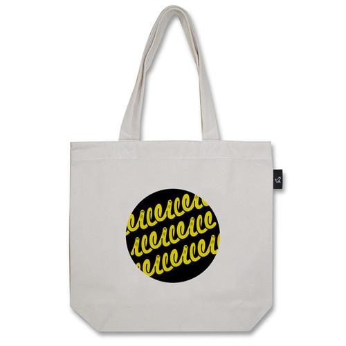 チンアナゴ(黒と黄色バージョン) トートバッグ (M:内ポケット付き)品番:tan-m-01