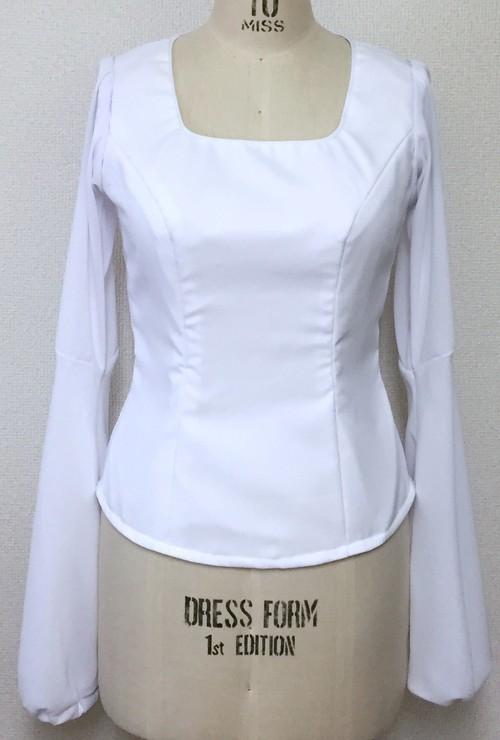 フラメンコ衣装*ブラウス(白)