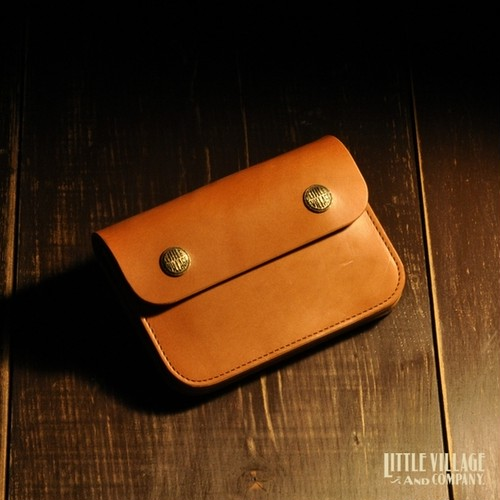 "Original Truckers' Wallet ""Short"" w/ Brass Buttons : Natural"