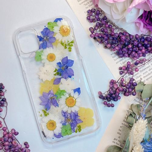 【11/XR対応】押し花 iPhone case