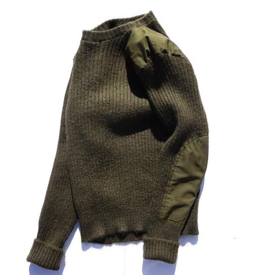 1980's〜 USコマンドセーター クルーネック オリーブ 実寸(M〜L位)