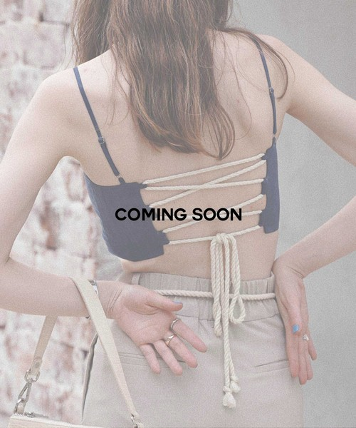 Linen touch rope camisole