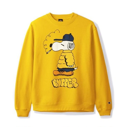 BUTTER GOODS 【LO GOOSE CHAMPION CREWNECK, GOLD】