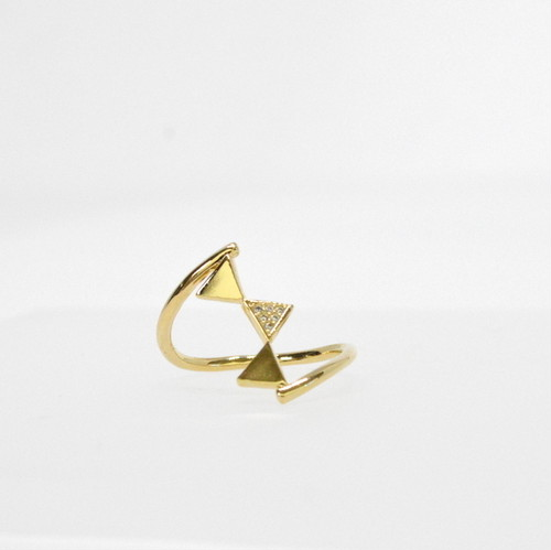 Triangle Motife Ring