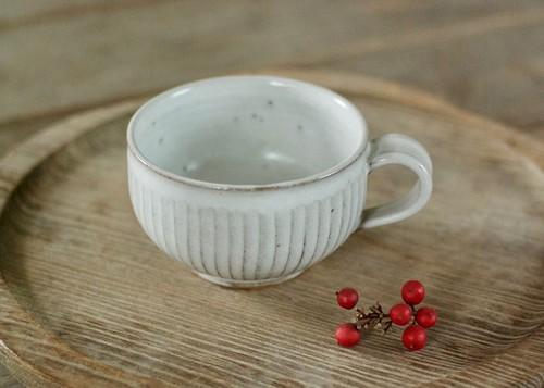 白釉鎬ティーカップ