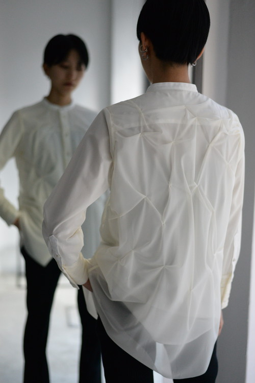 SATORU SASAKI / Layer shirt (white)