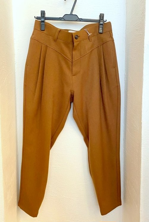 LANATEC Stretch Tapered Cropped Pants Camel