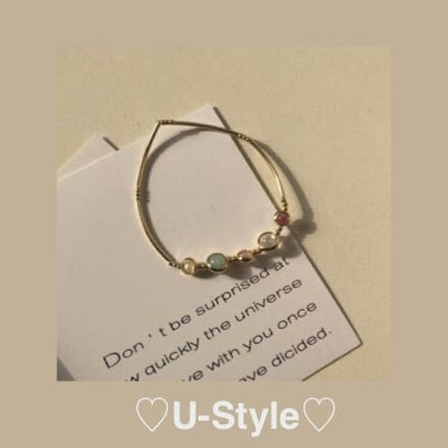 ♡colorful stone bracelet♡