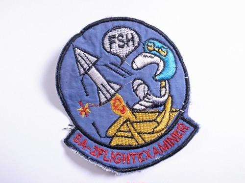 "OLD PATCH""SA-2FLIGHT EXAMINER"""
