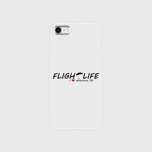 Flightlife ロゴ:スマホケース for  iPhone7(透明)